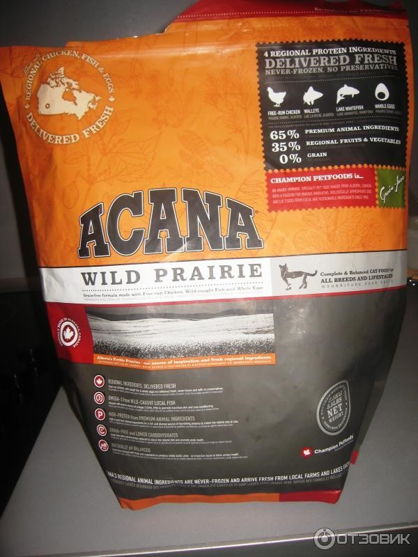 Внешний вид корма Акана