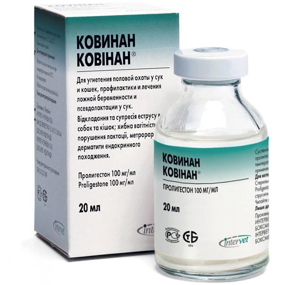 Ковинан — инъекционный ветпрепарат для снижения половой активности
