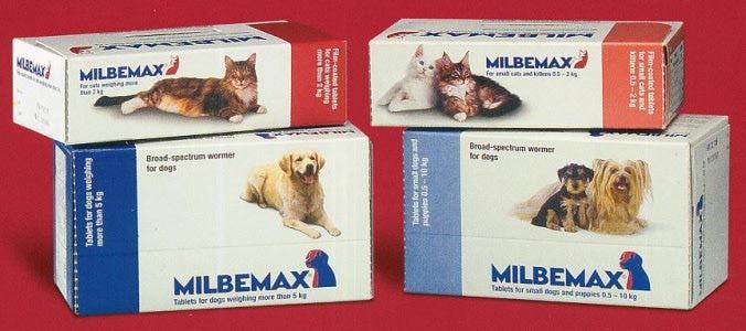 Мильбемакс выпускается для собак, щенков, кошек и котят