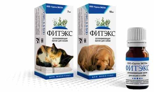 Фитекс – успокоительные капли для собак, кошек